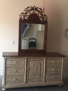 Drexel Heritage Triple Dresser & Mirror
