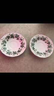 Lot of 2 Nikko Japan saucers. Great for under plants