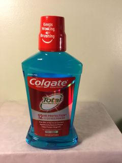 Colgate total 12 hour protection peppermint mouthwash