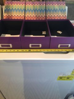 NEVER USED Storage Boxes 7 3/4 x 11 1/4
