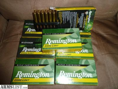 For Sale: 30-06 Remington Core Lokt soft point hunting ammo 150 Grain