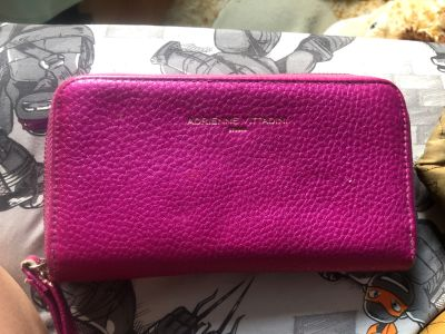 Adrienne Vittadini pink wallet w/ built in phone charger