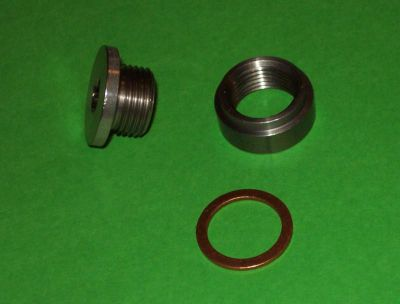 Buy OXYGEN SENSER BUNG AND PLUG kit MILD STEEL PLUG&STAINLESS STEEL BUNG+ WASHER motorcycle in Silverado, California, US, for US $5.99
