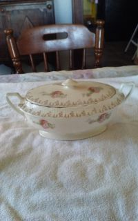 Antique covered bowl