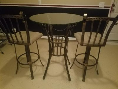 3pc Bistro Barstool Height Table Set