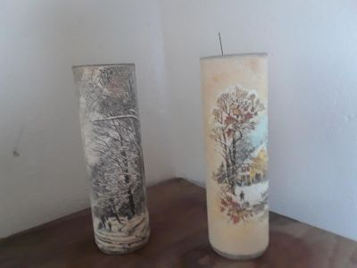 Beautiful Antique Candle Holders