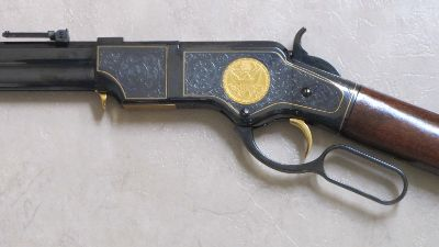 Engraved Henry Rifle 44/40 Cal