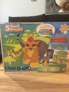 5 wood puzzles