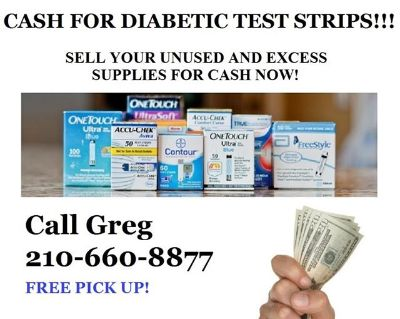 CASH for Diabetic Test Strips Call 660-8877