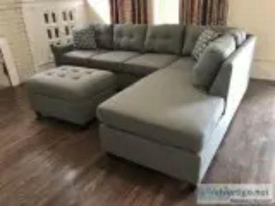 Grey Linen Sectional