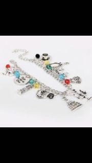Beauty and the Beauty charm bracelet - NEW with adjustable clasp