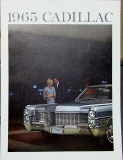 Buy 1965 Cadillac Fleetwood DeVille Calais Series Color Sales Brochure Original motorcycle in Holts Summit, Missouri, United States, for US $15.00