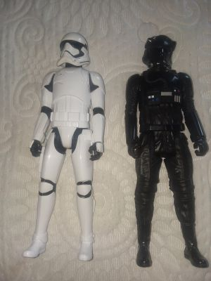 First order storm trooper and imperial tie pilot