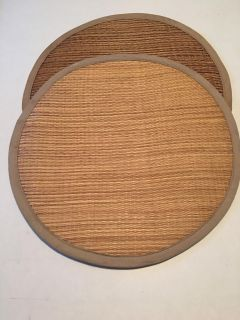 "2 Round 14"" Rattan Placemats"