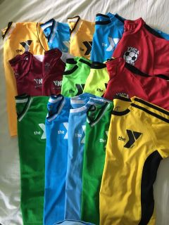 Lot of YMCA soccer jerseys, various sizes, FREE, FCFS, PPU near PT Walgreens
