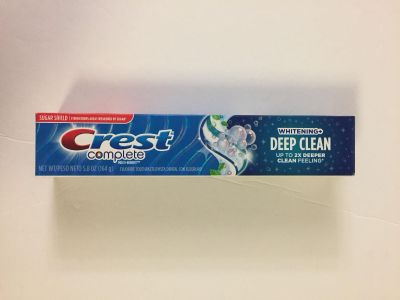 Crest complete whitening + Deep Clean toothpaste