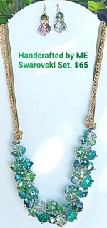 Handcrafted by ME Swarovski Set Necklace & Earrings