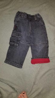 24 month flannel lined jeans