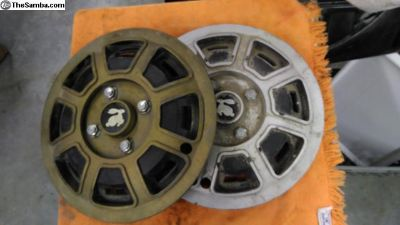 water cooled rabbit hubcaps wheel covers