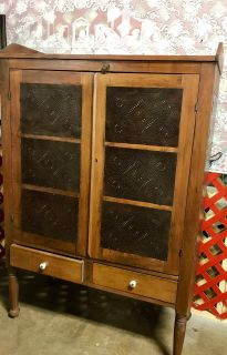 Antique Walnut Pie Safe