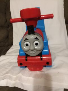 Thomas the Train Ride On Toy everything works music and lights very good used condition some peeling of the sticker on one side in picture