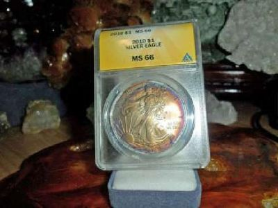 Exceptional and Beautiful American Silver Eagle Dollar {2010-P ANACS MS 66} He