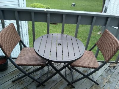 Martha Stewart Living Wicker Patio Set 2 Chairs and Table