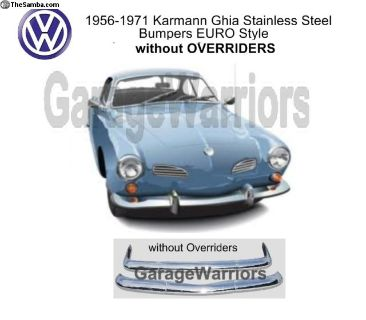 1956-71 Ghia Stainless Steel Bumpers EURO Style