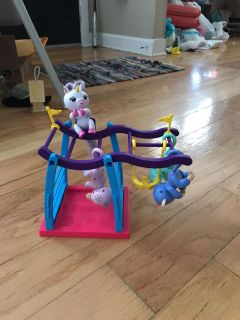 Fingerlings and play gym