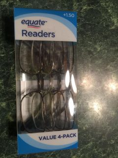 NEW 4 pairs readers, 1.50