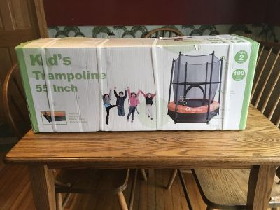 New 55 Trampoline with Enclosure