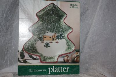 Christmas platters dishes serving tray baking dish