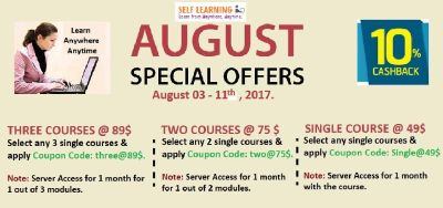 Special August Offers on SAP Courses - Single @ 49 $, Two @ 75 $ & Three @ 89 $ - http://www.selflea
