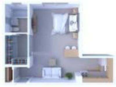 Museum Walk Apartments - Studio Floor Plan S5