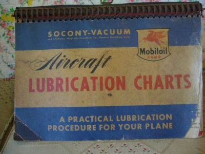 Purchase Vintage MOBILOIL AIRCRAFT LUBRICATION CHART Cessna Piper Glob Beechcaft ETC. motorcycle in Wildwood, Florida, United States