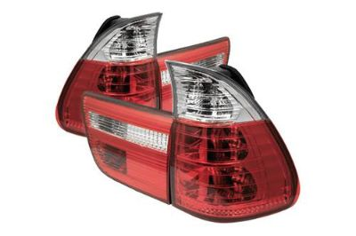 Sell Spyder BE5300RC - 00-05 BMW X5 Red Euro Tail Lights Rear Stop Lamps 4 Pcs motorcycle in Rowland Heights, California, US, for US $175.80