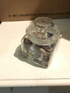 Jar of buttons Dek/Syc delivery