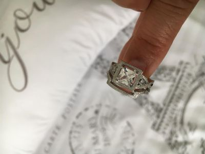 New Cubic Zirconia 925 Sterling Silver Size 6