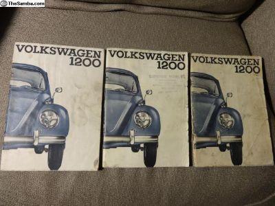Original 1965 Beetle Bug Owners Manuals