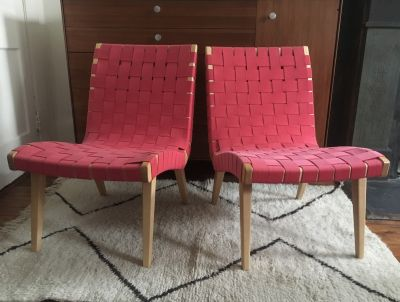 Pair of Original Jens Risom Lounge Chairs by Knoll