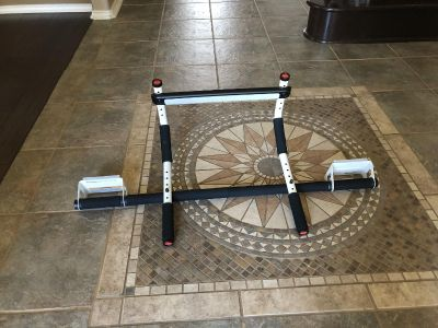 Euc pull up bar, hangs from the doorway, great for teens or in a man cave. $10! Oakrun poms quicksale porch pu