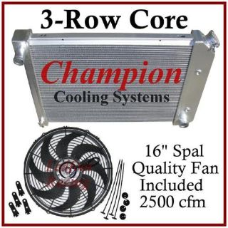 Find RADIATOR UNIVERSAL GM / CHEVY 20 3/4 x 17 CORE + FAN motorcycle in Orange, California, US, for US $259.98