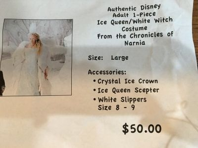 Authentic Disney Ice Queen from The Chronicles of Narnia