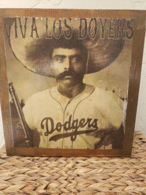 12x12 Zapata Dodgers wall art