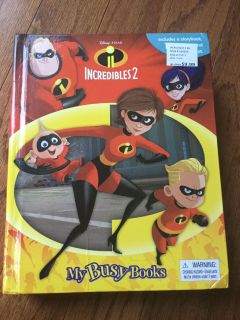 Incredibles 2 book, mat and figurines