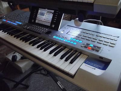 Yamaha Tyros 4 Keyboard with the MS04 speakers   $1500