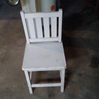 Chair used outside
