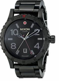 Nixon Diplomat Black Dial Stainless Steel Band Quartz Mens Watch A277-