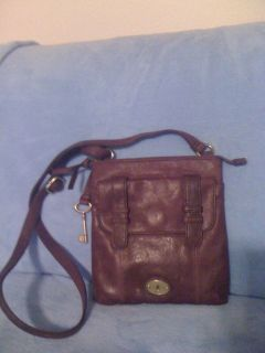 New,Purple FOSSIL Leather Purse