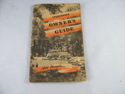 Buy VINTAGE 1942 STUDEBAKER CHAMPION OWNERS GUIDE WITH MILEAGE RATIONING RECORD motorcycle in Bellingham, Washington, United States, for US $59.00
